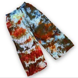 Tie dyed lounge pants pajama pants L/XL
